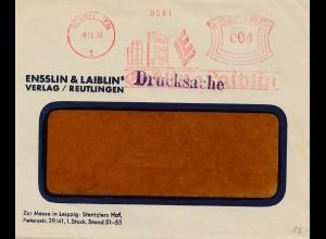 Freistempel Reutlingen Ensslin 1931 - Drucksache - Bücher