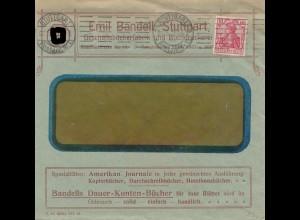Brief Bandell, Stuttgart 1913- Indisches Glückzeichen Germania - Geschäftsbücher