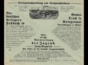 Verleger des Heiligen Apostolischen Stuhls, Kevelaer, Werbung Krieger Festbuch..