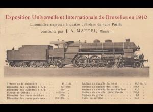 Expo Internat. Bruxelles 1910 - Lokomotive Maffei, München