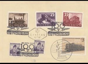 Österreich, Ersttag 1962, Eisenbahnmotive, Ausstellung, Sonderstempel