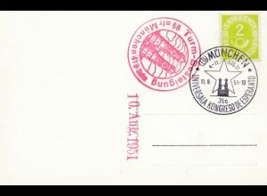 AK München, Turmbesteigung, Kongreso de Esperanto 1951