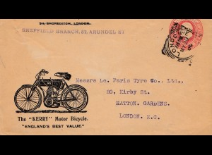 Motor Bicycle, Motor-Fahrrad - Kerry, England, UK, London, 1906
