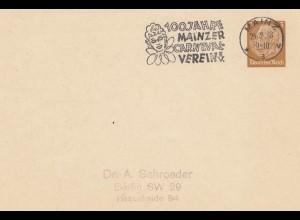 100 Jahre Mainzer Karneval Verein 1938