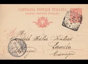 Ganzsache Milano nach Lauscha 1904, Foto Apparate Murder&Duroni