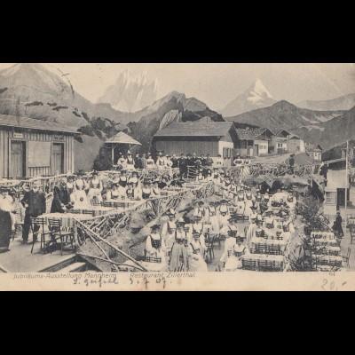 AK: Jubiläums-Ausstellung Mannheim 1907, Kunst/Gartenbau