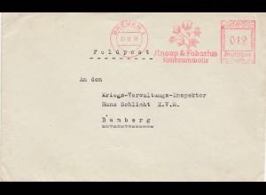 Bremen, Rohbaumwolle, Knoop&Fabarius nach Bamberg 1939, Freistempel
