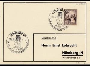 Berlin: Internat. Gartenbau Kongress 1938 nach Nürnberg