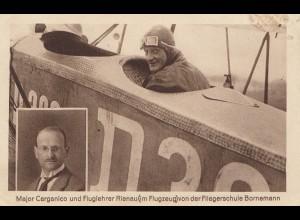 AK: Fluglehrer Doppeldecker, Fliegerschule Bornemann 1926, Berlin Staaken