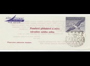 Praha-1962, Luftpost - Ganzsache