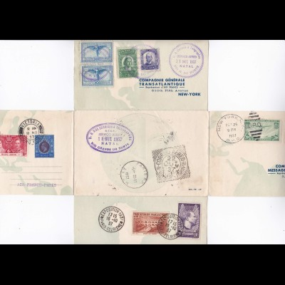Exposition de Tourisme 1937 Paris - Par Avion Natal - New York, Victora HGK ...