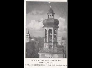 AK Freiballonmeisterschaft 1935 Darmstadt, Postballon
