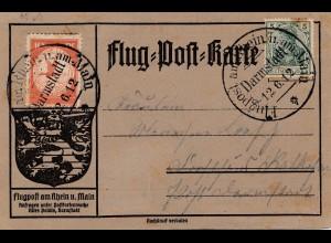 Flug-Post-Karte Darmstadt 1912