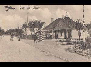 Truppenlager Zossen-Feldpost Übungsplatz- Doppeldecker, Kaserne 1916