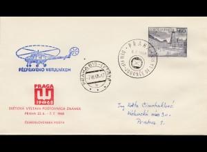 Brief Prag 1968 Hubschrauber