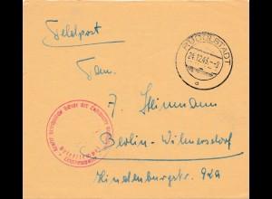 Feldpost Rudolstadt 1943 Kraftfahrtechnische Schule der Luftwaffe nach Berlin