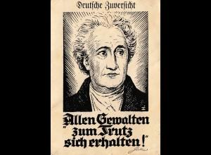Ansichtskarte Goethe - Huldigungsfahrt des Graf Zeppelin
