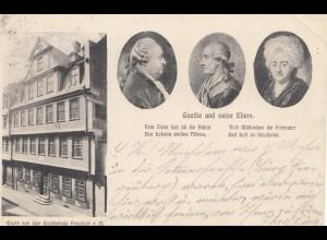 Ansichtskarte Goethe - Frankfurt /M 1905 nach Mannheim
