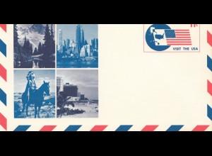 Ganzsache USA - Indianer 1966