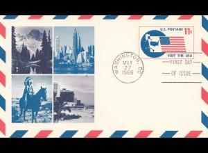Ganzsache USA - Indianer 1966 FDC