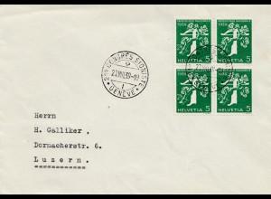 Congres Sioniste Genf 1939 - Brief nach Luzern