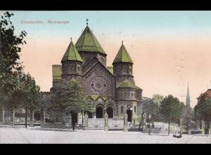 Ansichtskarte Chemnitz Synagoge 1914