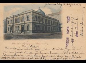 Ansichtskarte Johannesburg Synagoge 1899 nach Noerdlingen