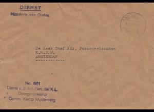 POW - Kgf: 1947 Ministerie van Oorlog, Muiderberg nach Amsterdam