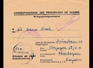 POW - Kgf: 1946 Colmar nach München mit Text