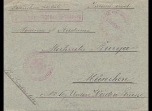 POW - Kgf: 2 Briefe 1917 von Finistere Frankreich nach München