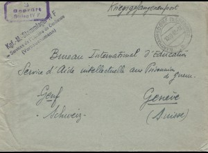 POW - Kgf: 1942 STALAG IVF Vertrauensmann in die Schweiz