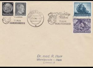 Würzburg: Tilman Riemenschneider Werbestempel 1944