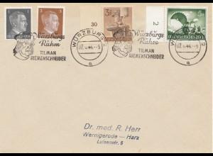 Würzburg: 1944: Tilman Riemenschneider Werbestempel