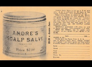 Ganzsache USA: Andres Scalp Salve, Chicago Illinois