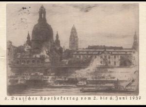 Ansichtskarte: 6. Apothekertag 1939 in Dresden