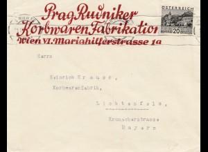 Korbwaren Fabrikation Österreich -Wien - 1920 nach Lichtenfels