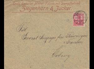 Erfurter Möbel Fabrik mit Dampfbetrieb 1900 nach Coburg