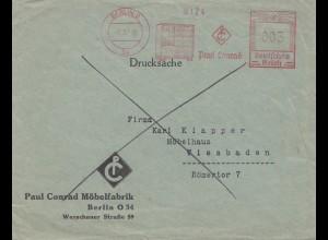 Berlin Paul Conrad Möbelfabrick 1939 nach Wiesbaden