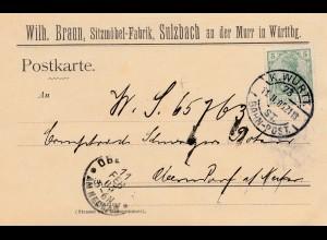 Sitzmöbel Fabrik Sulzbach an der Murr 1905 - Stuhl