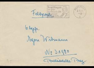 Reutlingen-Feldpost-Friedrich List 1941 nach Prag