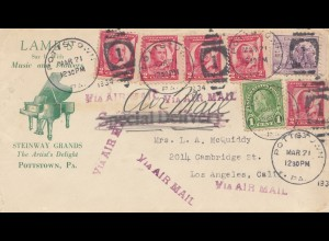 USA: LAMBs Pottstown-Steinway Grands-Piano-Air Mail