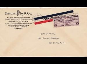 USA: Sherman Clay&Co, Steinway, Piano, Radeio, Harfe, ...1930, San Francisco