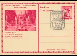 Österreich: Ganzsache Salzburger Festspiele 1959