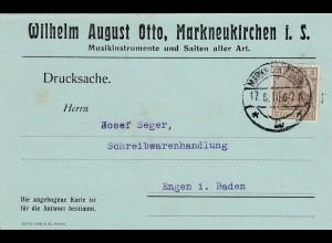 Markneukirchen - Musikinstrumente und Saiten, 1916
