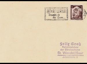 Deutsch ist die Saar 1935 - Notenschlüssel-Noten