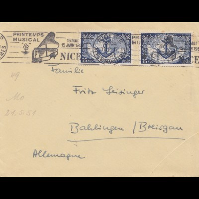 Frankreich: Printimps Musical Nice 1951 nach Balingen