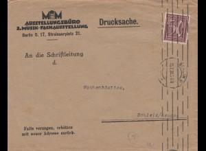 3. Musik Fachausstellung Drucksache, 1922 Berlin nach Schleiz
