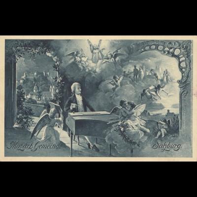 Mozart Feier Salzburg 1910 - Ansichtskarte