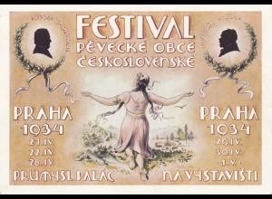 Festival Praha 1934 Checheslovakei