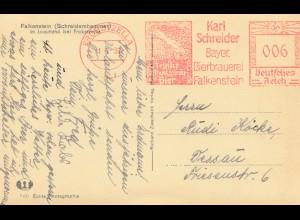 Ansichtskarte Falkensteien-Freistempel Schreider Probstzella-Bierbrauerei 1939